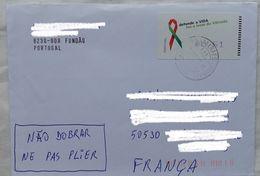 Lettre  Portugal 2014 ATM ?  Timbre 0,61 €  Vida Sida  Maladie    Pour La France - 1910-... Republic