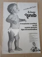 - ADVERTISING PUBBLICITA'  PANNOLINI LINES SNIB - 1975 -  OTTIMO - Unclassified