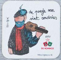 Sous-bock DE KONINCK De Poesje Van Sint Andries Den Djon (marionnette) Bierdeckel Bierviltje Coaster (CX) - Portavasos