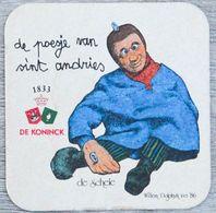 Sous-bock DE KONINCK De Poesje Van Sint Andries De Schele (marionnette) Bierdeckel Bierviltje Coaster (CX) - Portavasos