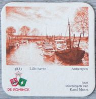 Sous-bock DE KONINCK Lillo Haven Antwerpen Anvers Karel Moers (bateau) Bierdeckel Bierviltje Coaster (N) - Portavasos
