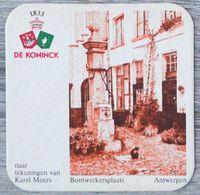 Sous-bock DE KONINCK Bontwerkersplaats Antwerpen Anvers Karel Moers Bierdeckel Bierviltje Coaster (N) - Portavasos