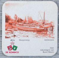 Sous-bock DE KONINCK Sloepenweg Antwerpen Anvers Karel Moers Bierdeckel Bierviltje Coaster (N) - Portavasos
