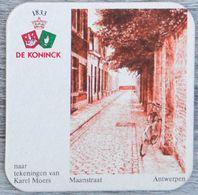 Sous-bock DE KONINCK Maanstraat Antwerpen Anvers Karel Moers Bierdeckel Bierviltje Coaster (N) - Portavasos