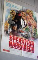 Ancienne Affiche De Cinéma Warner Bros Opération Marrakech Tony Randall Senta Berger Herbert Lom 80cm X 60cm - Posters