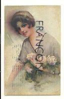 Jeune Fille Et Bouquet De Roses. Signée Monestier. 1928 - Monestier, C.