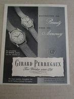 - ADVERTISING PUBBLICITA' OROLOGI GIRARD PERREGAUX - 1948 -  OTTIMO - Unclassified