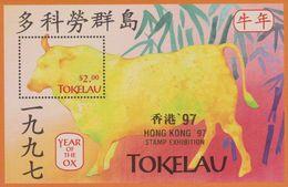 Tokelau 1997 Year Of The Ox, Miniature Sheet, Hong Kong'97, Mint Never Hinged - Tokelau