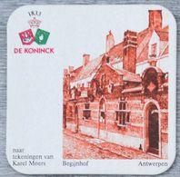 Sous-bock DE KONINCK Begijnhof Béguinage Antwerpen Anvers Karel Moers Bierdeckel Bierviltje Coaster (N) - Portavasos