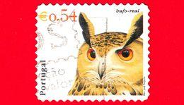 PORTOGALLO - Usato - 2002 - Teste Di Uccelli - Bird - Gufo - Bubo Bubo - Bufo Real - 0,54 - Oblitérés