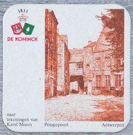 Sous-bock DE KONINCK Potagepoort Antwerpen Anvers Karel Moers Bierdeckel Bierviltje Coaster (N) - Portavasos