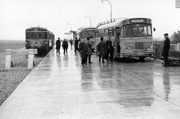 Le Touquet-Aéroport (Première Gare). Autorail Spécial FACS. Cliché Jacques Bazin. 12-10-1968 - Trains