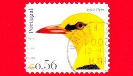 PORTOGALLO - Usato - 2004 - Teste Di Uccelli - Rigogolo - Oriolus Oriolus - 0.56 - Oblitérés