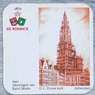 Sous-bock DE KONINCK OL Vrouw Kerk Antwerpen Anvers Karel Moers Bierdeckel Bierviltje Coaster (CX) - Portavasos