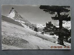 CP Suisse ZERMATT  - Matterhorn  4478 M Die Gornergratbahn Auf Rifelalp - Chemin De Fer à Crémaillère 1950 - VS Valais