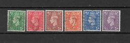 1937 - GRAN BRETAGNA - N. 209A/14A - N. 223 USATI (CATALOGO UNIFICATO) - 1902-1951 (Re)