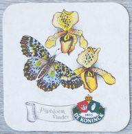 Sous-bock DE KONINCK Pijpbloem Vlinder (papillon, Fleur) Bierdeckel Bierviltje Coaster (N) - Portavasos