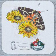 Sous-bock DE KONINCK Bruinebeer (papillon, Fleur) Bierdeckel Bierviltje Coaster (N) - Portavasos