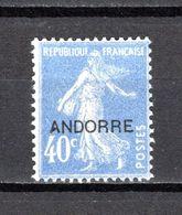 ANDORRE N° 11  NEUF AVEC CHARNIERE COTE 12.00€   TYPE SEMEUSE - Andorre Français