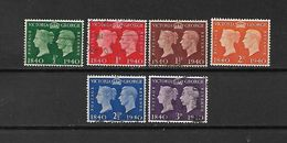 1940 - GRAN BRETAGNA - N. 227/32 USATI (CATALOGO UNIFICATO) - 1902-1951 (Re)
