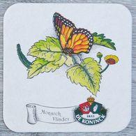 Sous-bock DE KONINCK Monarch Vlinder (papillon, Fleur) Bierdeckel Bierviltje Coaster (N) - Portavasos