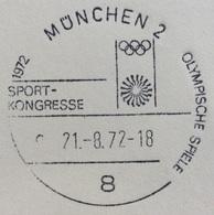 XX OLIMPIADE - MÜNCHEN 1972  -  ANNULLO OLIMPICO MUNCHEN 2 - SPORT KONGRESSE - Summer 1972: Munich