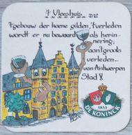 Sous-bock DE KONINCK 't Vleeshuis Bierdeckel Bierviltje Coaster (CX) - Portavasos