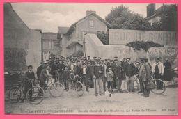 La Ferté Sous Jouarre - Société Générale Des Meulières - La Sortie De L'Usine - Ouvriers - Cyclistes - Edit. ND PHOT - La Ferte Sous Jouarre
