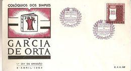 Portugal & FDC Simple Colloquies, Garcia De Horta, Porto 1963 (6888) - FDC