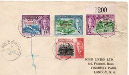 Dominica 1951 Cover G.P.O. Dominica New Contitution 1951 - Dominica (1978-...)