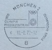 XX OLIMPIADE - MÜNCHEN 1972  -  ANNULLO OLIMPICO MUNCHEN 2 - OLYMPIA PRESSEZENTRUM - Summer 1972: Munich