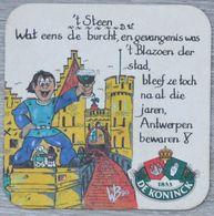 Sous-bock DE KONINCK 't Steen Bierdeckel Bierviltje Coaster (CX) - Portavasos