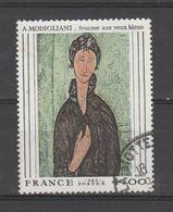 """FRANCE / 1980 / Y&T N° 2109 : """"Femme Aux Yeux Bleus"""" (Amédéo Modigliani) - Choisi - Cachet Rond - France"""
