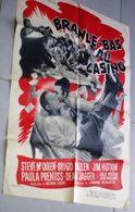 Ancienne Affiche De Cinéma Metro Goldwyn Mayer Branle Bas Au Casino Steve Mc Queen Brigid Bazlen Jim Hutton 80cm X 60cm - Posters