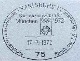 XX OLIMPIADE - MÜNCHEN 1972  -  ANNULLO OLIMPICO KARLSRUHE 1 - - Summer 1972: Munich