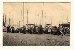 CPSM OOSTENDE OSTENDE VISSERSKAAI VISVERKOOP DE TRAP The Harbour Quai Des Pecheurs - Circulée - 2 Scans - Oostende