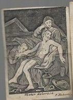K53//   GRAVURE OP PERKAMENT  MATER DOLOROSA   F.HUBERTUS  7/9 Cm - Religion & Esotericism