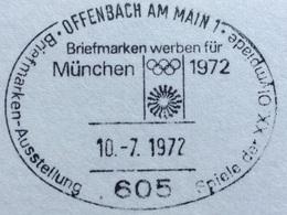 XX OLIMPIADE - MÜNCHEN 1972  -  ANNULLO OLIMPICO OFFENBACH AM MAIN - Summer 1972: Munich