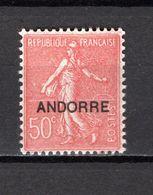 ANDORRE N° 15  NEUF AVEC CHARNIERE COTE 16.00€   TYPE SEMEUSE LIGNEE - Andorre Français