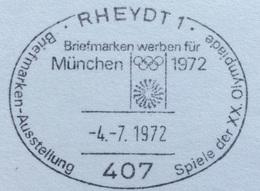 XX OLIMPIADE - MÜNCHEN 1972  -  ANNULLO OLIMPICO RHEIDT 1 - Summer 1972: Munich