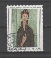 """FRANCE / 1980 / Y&T N° 2109 : """"Femme Aux Yeux Bleus"""" (Amédéo Modigliani) - Oblitéré 1981 09 21 . SUPERBE ! - France"""