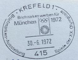 XX OLIMPIADE - MÜNCHEN 1972  -  ANNULLO OLIMPICO KREFELD 1 - Summer 1972: Munich