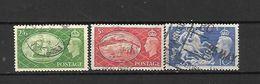 1951 - GRAN BRETAGNA - N. 256/58 - N. 260/61 USATI (CATALOGO UNIFICATO) - 1902-1951 (Re)
