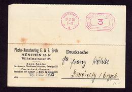 DR Drucksache-Karte Mit Freistempel MÜNCHEN 2 E - Zwönitz - 19.2.35 Von Photo- Und Kunstverlag - Deutschland