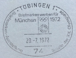 XX OLIMPIADE - MÜNCHEN 1972  -  ANNULLO OLIMPICO TUBINGEN 1 - Summer 1972: Munich
