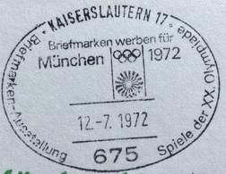 XX OLIMPIADE - MÜNCHEN 1972  -  ANNULLO OLIMPICO  KAISERSLAUTERN 17 - Summer 1972: Munich