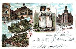 Litho Colmar Kolmar Elsass Haut Rhin 1898 - Colmar