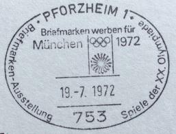 XX OLIMPIADE - MÜNCHEN 1972  -  ANNULLO OLIMPICO  PFORZHEIM 1 - Summer 1972: Munich