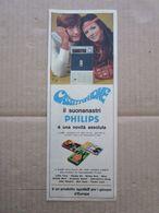 - ADVERTISING PUBBLICITA' PHILIPS CASSETTOPHONE  - 1969 -  OTTIMO - Unclassified