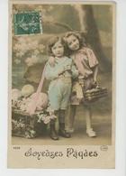 """ENFANTS - LITTLE GIRL - MAEDCHEN - Jolie Carte Fantaisie Portrait Fillette Et Oeufs De """"Joyeuses Pâques """" - Portraits"""